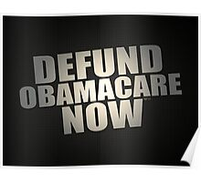 Defund Obamacare Now Poster