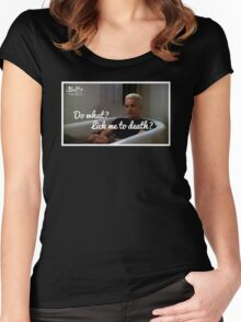 What are you gonna do.. Lick me to death? Women's Fitted Scoop T-Shirt