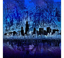 chicago city skyline 4 Photographic Print