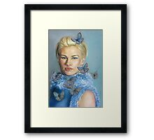Chelsea  with butterflies Framed Print