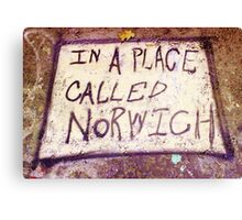 Norwich- Urban Art Photography Canvas Print