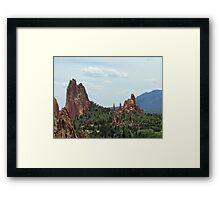 The Garden of the Gods, Colorado Springs Framed Print
