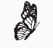 Black and White Butterfly Kids Tee