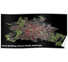 Berlin Buildings, Nature, Roads, Waterways - Print Poster