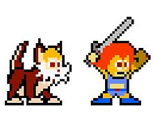 Thundercats 8bit Lion-O and Snarf no text by miffed
