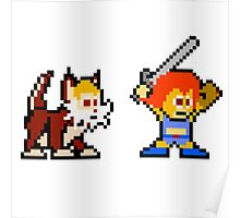 Thundercats 8bit Lion-O and Snarf no text Poster