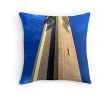 Riverfront Clocktower Throw Pillow