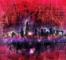 chicago city skyline 5 by BekimART