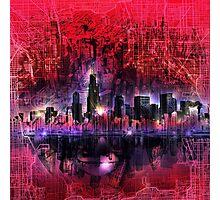 chicago city skyline 5 Photographic Print