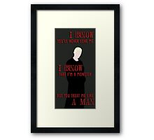 Spike's Truth Framed Print