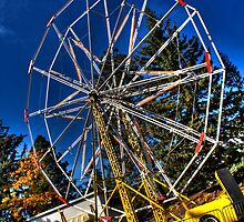 Old Ferris Wheel With No Seats by Arelle Hall