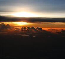 Sunset From The Air Near Iwo Jima by Tizimagen