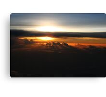 Sunset From The Air Near Iwo Jima Canvas Print