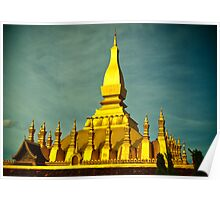 Laos Temple Poster