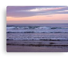 The Waves of Bamburgh Canvas Print