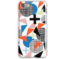 Kimbah - abstract art print shapes modern geometric retro cool colorful hipster gift idea dorm room  iPhone Case/Skin