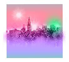 chicago city skyline 7 Photographic Print