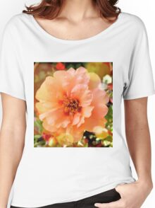 Precious Peach: Blooms in Boothbay Harbor Women's Relaxed Fit T-Shirt