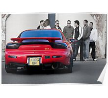 RX7 with Onlookers Poster