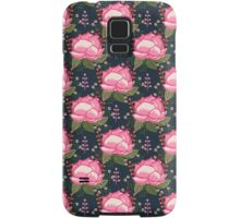 Flower Bud pattern design watercolor painting print girly trendy anthro floral pink navy bohemian Samsung Galaxy Case/Skin