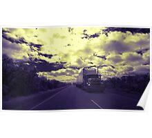 Roadtrain on Brand Hwy, Western Australia Poster