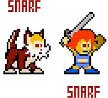 Thundercats 8bit Lion-O and Snarf by miffed