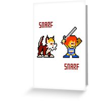 Thundercats 8bit Lion-O and Snarf Greeting Card