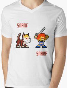 Thundercats 8bit Lion-O and Snarf Mens V-Neck T-Shirt