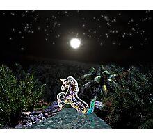 Glass Unicorn Photographic Print