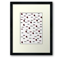Doctor Who Eleventh patterns Framed Print