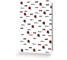 Doctor Who Eleventh patterns Greeting Card