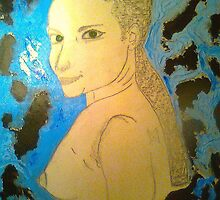"""WIP Conceptual ...""""Woman's thoughts and feeling in abstract background """"Catalina...""""The lady with Green Eyes"""" 21/10/10 by tim norman"""