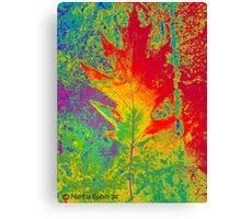 Artsy Autumn Leaf Canvas Print