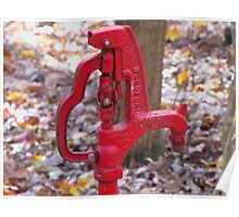 Red Water Pump Poster