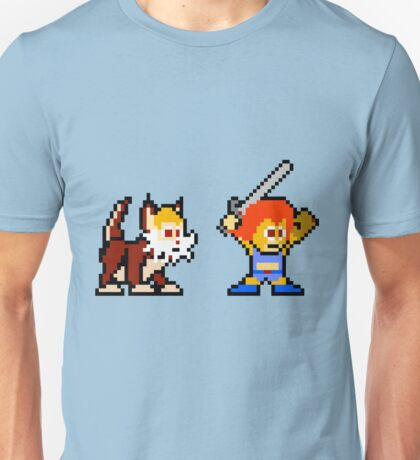 Thundercats 8bit Lion-O and Snarf no text Unisex T-Shirt