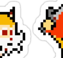 Thundercats 8bit Lion-O and Snarf no text Sticker