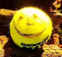 Smiley Tennis Ball  by Vincent J. Newman