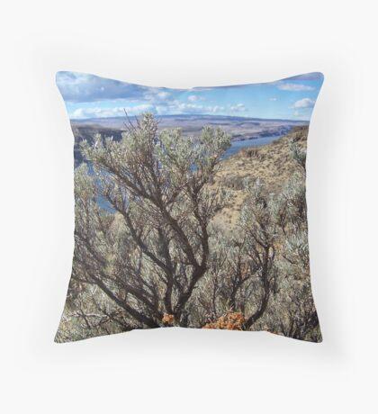 Untamed West (Sagebrush) Throw Pillow