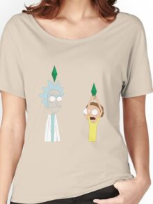 Rick and Morty in a Simulation Women's Relaxed Fit T-Shirt