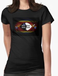 Swaziland Twirl Womens Fitted T-Shirt