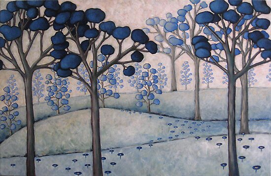blue landscape #2 by Sorina Williams