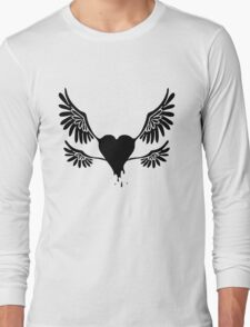 Black Winged Heart T-Shirt
