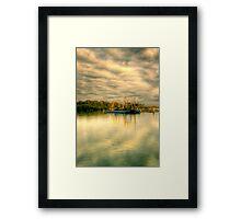 Oyster Barge Framed Print