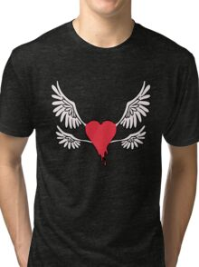 Red Winged Heart Tri-blend T-Shirt