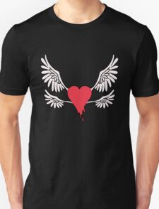 Red Winged Heart Unisex T-Shirt