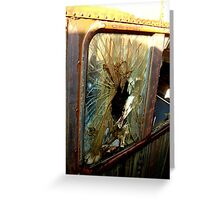 Your Getting Out Thru The Window Greeting Card