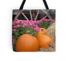 Pumpkins by the Wheel Tote Bag