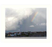 Rainbow Over the Archipelago  - Gothenburg, Sweden Art Print