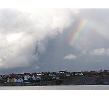 Rainbow Over the Archipelago  - Gothenburg, Sweden Photographic Print