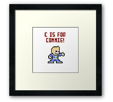 Fallout Pipboy/Vaultboy Framed Print
